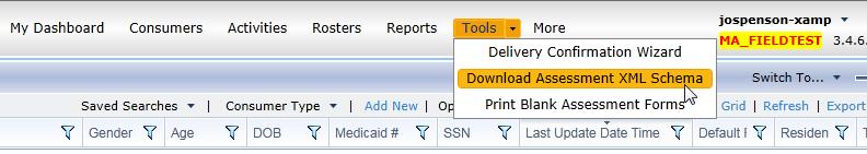 Tools-download-assessment-xml