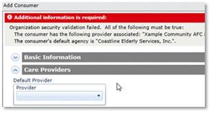 screnshot of a SAMS error message